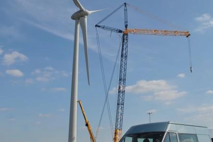 Dagenham Plant Wind Turbine With Blades Mounted