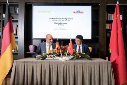 Continental Baidu avtonomna tehnologija