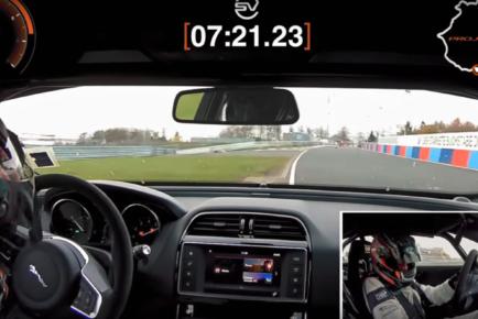 Jaguar XE SV Project 8 lap record