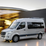 Mercedes-Benz Sprinter Tourer – Exterieur, Brillantsilber Metallic, Hinterradantrieb   Mercedes-Benz Tourer – Exterior, brilliant silver metallic, Rear-wheel drive