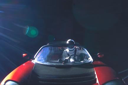 Tesla Roadster in Space 2