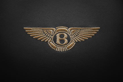 Bentley Headrest Emblem Black Sml