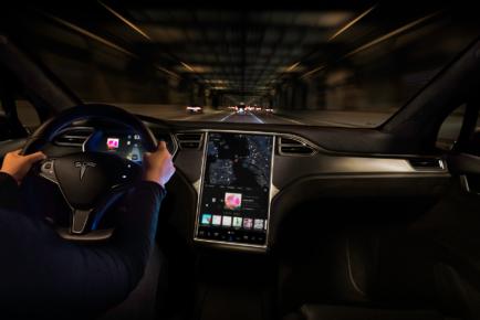 Tesla - MX Interior Tunnel Night