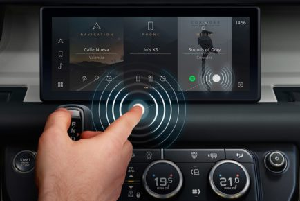 JLR contactless screen