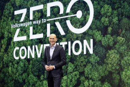 Volkswagen CEO Ralf Brandstätter at the Way to Zero Convention.